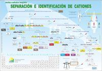 El gran poster educativo del análisis inorgánico cualitativo Esquema de la separación y detección de cationes, adecuado para la pared de su laboratorio.