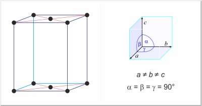 base-centered orthorhombic