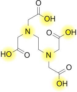 Struktura etilendiamintetraoctene kiseline